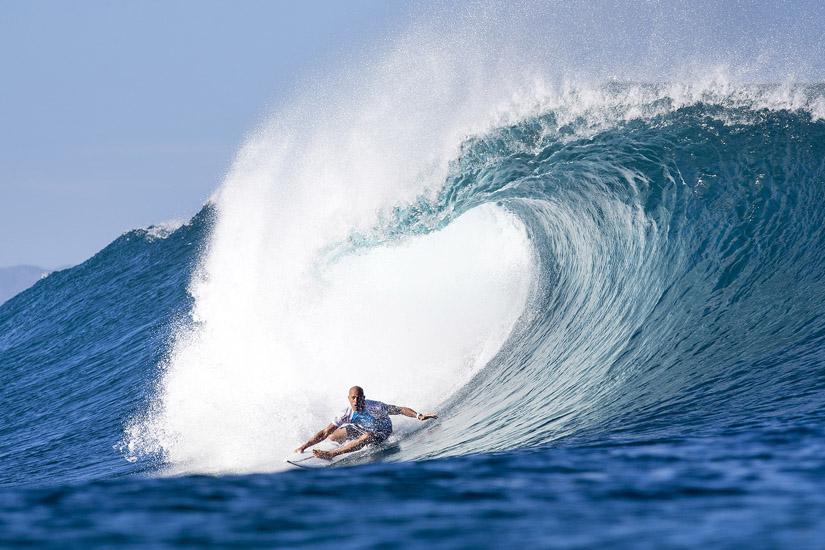 Kelly Slater: um dos mais famosos campeões do mundo de surf de todos os tempos | Foto: Cestari/WSL