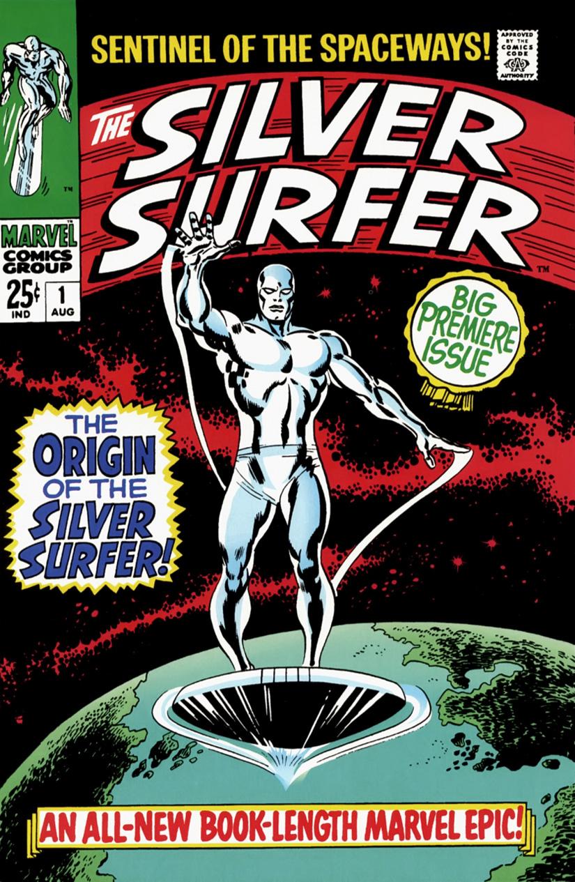 Surfista Prateado: a capa da estreia na Marvel Comics